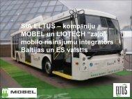 Mobilā elektrotransporta izmantošanas veicinošo pasākumu ieviešana