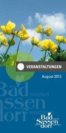 August 2012 - Tagungs- und Kongresszentrum Bad Sassendorf