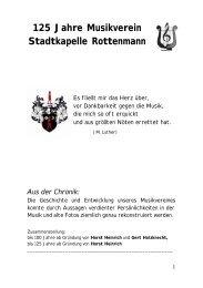 125 Jahre Musikverein Stadtkapelle Rottenmann