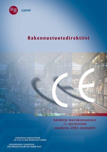Rakennustuotedirektiivi - Glass for Europe