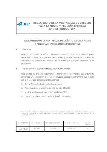 Reglamento MIPES _final - BDP