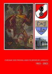 CHRONIK DER FREIWILLIGEN FEUERWEHR ... - FF Lannach