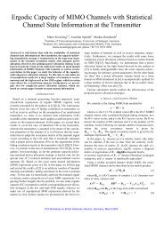 Ergodic Capacity of MIMO Channels with Statistical Channel State ...