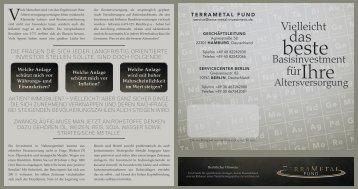 Vielleicht - TerraMetal Invest GmbH