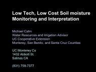 Low Tech, Low Cost Soil moisture Monitoring and Interpretation