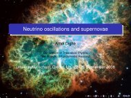 Neutrino oscillations and supernovae - Department of Theoretical ...