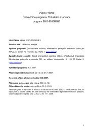 Výzva programu Eko-Energie
