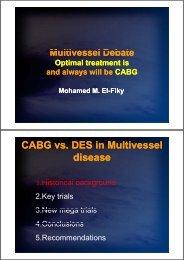 CABG vs. DES in Multivessel disease