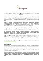 Novozymes Biopharma signs license agreement with GE Healthcare ...
