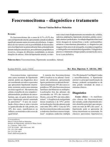 Feocromocitoma – diagnóstico e tratamento