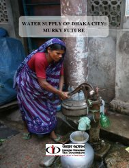 Water Supply of Dhaka City - Unnayan Onneshan