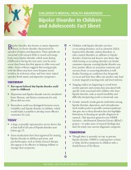 Bipolar Disorder in Children and Adolescents Fact Sheet - NIMH