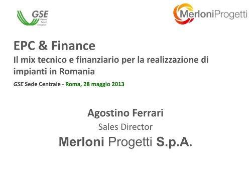 Agostino Ferrari - Corrente - Gse