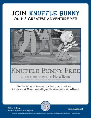 Knuffle Bunny Free Event Kit - HarperCollins Children's Books
