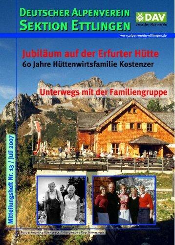 Erfurter Hütte - DAV Sektion Ettlingen