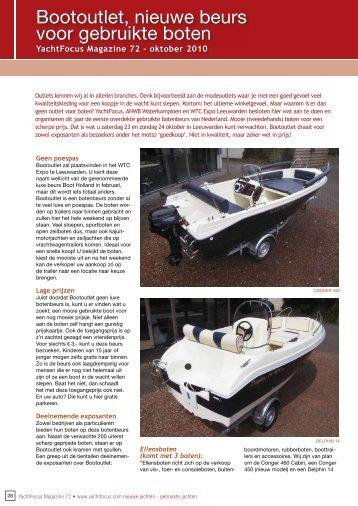Bootoutlet, nieuwe beurs voor gebruikte boten - Yachtfocus