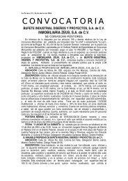 BUFETE INDUSTRIAL DISEÑOS Y PROYECTOS, SA de CV ...