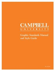 Graphic Standards Manual and Style Guide - Campbell University