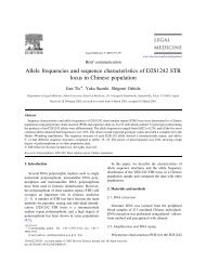 Allele frequencies and sequence characteristics of D2S1242 STR ...