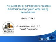 The Suitability of Nitrification for Reliable Disinfection of Recycled ...