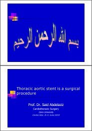 Thoracic aortic stent is a surgical procedure