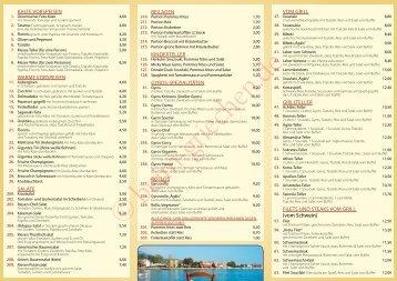 Speisekarte* zum Mitnehmen - Die griechischen Restaurants in ...