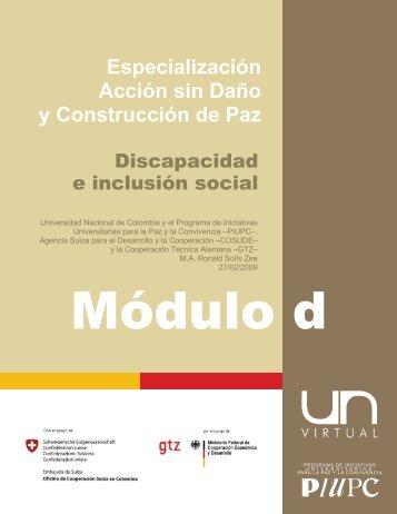 Especialización Acción sin Daño y Construcción de Paz - Bivipas