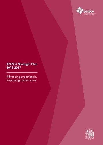 ANZCA Strategic Plan 2013-2017.pdf - Australian and New Zealand ...