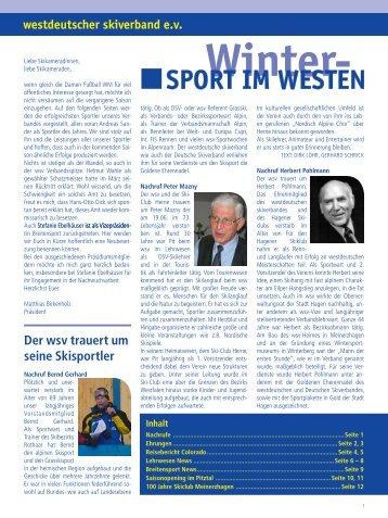 Verbandszeitschrift 03-2011 - Westdeutscher Skiverband e.V.