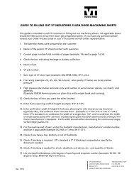 Flush Door Machining Sheet Guide - VT Industries Inc