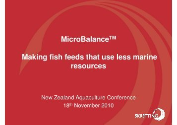 Dr Rhys Hauler - Aquaculture New Zealand