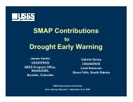 SMAP Contributions to Drought Early Warning