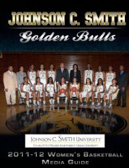 2011-12 WBB Media Guide - Johnson C. Smith University Athletics