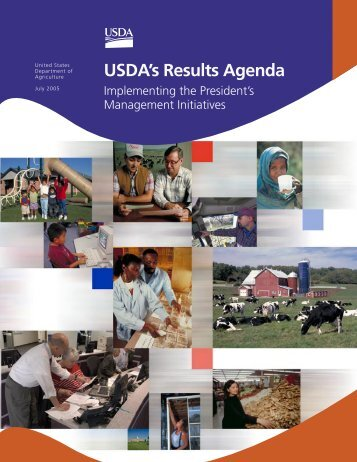 USDA's Results Agenda 06.indd - US Department of Agriculture