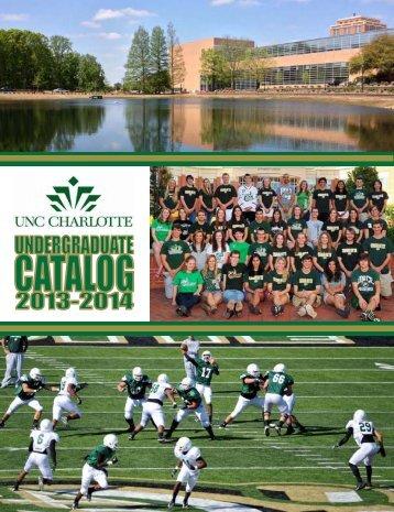 2013-2014 UNC Charlotte Undergraduate Catalog - University ...