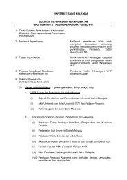 Pembantu Tadbir (Kewangan) (W17) - Jabatan Pendaftar - USM