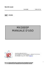 MX3005P MANUALE D'USO - Nuclear Laser Medicine srl