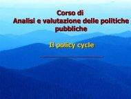 Le fasi del policy making - CIRES