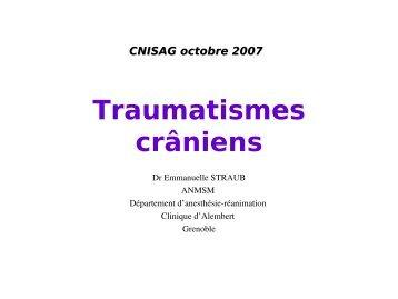 Traumatisme cranien, Dr Straub - Association Nationale des ...
