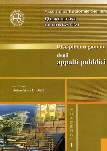 legge quadro in materia di lavori pubblici - Assemblea Regionale ...