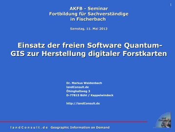 Einführung in GIS - landConsult.de