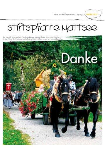Neues aus der Pfarrgemeinde I Jahrgang 43 HERBST ... - Stift Mattsee