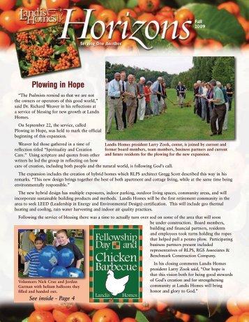 Plowing in Hope - Landis Homes