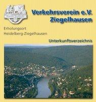 62 21- 89 66 24 Fax: 00 49 - (0) - Der Verkehrsverein Ziegelhausen ...