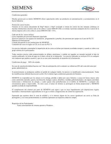 Condiciones generales - Industria de Siemens
