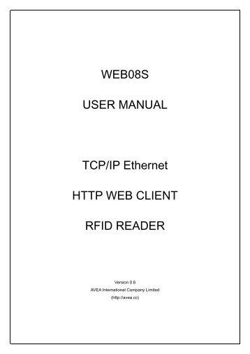 WEB01A TCP/IP Ethernet RFID Reader - QKits
