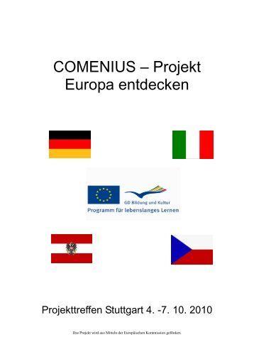 COMENIUS – Projekt Europa entdecken - Schulen St. Ursula Wien