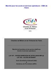 Marché pour les accès et services opérateurs - CMA de l'Isère