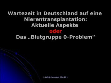 Wartezeit und Ergebnisse (ETKAS) - nieren-transplantation.com