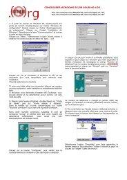 CONFIGURER WINDOWS 95/98 POUR NO-LOG - Globenet